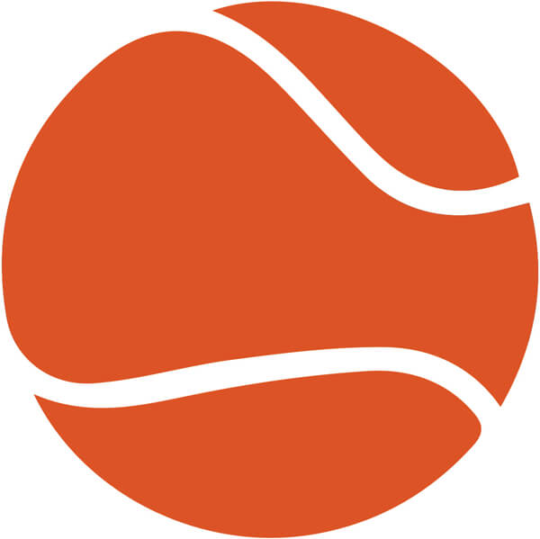 modified tennis lessons using orange balls for children at Genesis Tennis