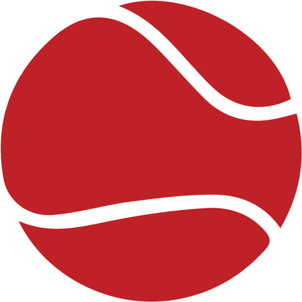 modified tennis lessons using red balls for children at Genesis Tennis