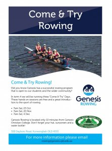 Genesis Rowing Come and Try